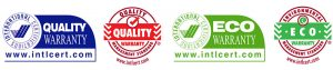 Quality and Eco Warranty certificates for Now Civil